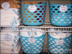 "This is right up my alley!! Lots of containers - everything  in a ""home""!  Dollar tree items. Look at this Blog, Lots of Great stoarge/organizing ideas !"