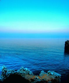 Mediterranean turquoise sunset
