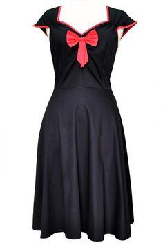 Lady Vintage Isabella Dress Black   Jurken   Miss Vintage   Retro, vintage geïnspireerde dames kleding