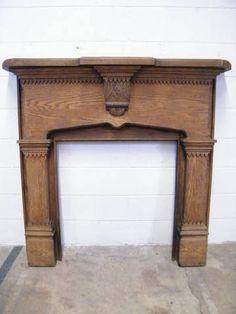 Columbus Architectural Salvage - Ornate Oak Mantel