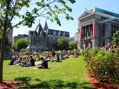 McGill University campus, Montreal, where I spent 4 years of my life....it's normally covered in snow.