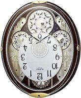 Gala Musical Wall Clock Burl Wood 4MH858WU23