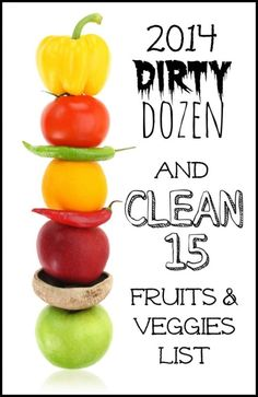 2014 Dirty Dozen U0026 Clean 15 Fruits And Vegetable List