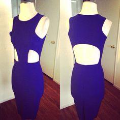 Blue cut out dress by:Oseas Villatoro