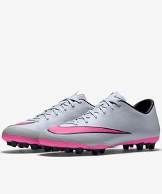best service e0dad 62fb2 Football boots shoes Nike Cleats Mercurial Victory V AG-R Grey 2015 Men.