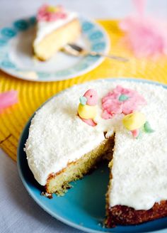 Easter Cake with Lime and Coconut (need to translate from Swedish to English)