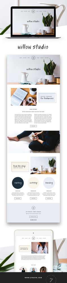 Willow Squarekit - Station Seven WordPress Themes