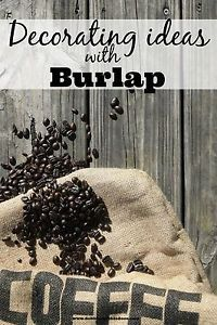 Pumpkin/funkin carving decorating and stencil ideas! Burlap Projects, Burlap Crafts, Diy Projects To Try, Burlap Coffee Bags, Coffee Sacks, Painters Cloth, Burlap Valance, Burlap Sacks, Hessian