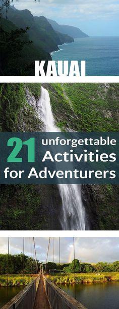 Kauai is a paradise for adventure seekers! There are so many activities you can do. #kauai #hawaii #activities #thingstodo #TravelDestinationsUsaHawaii
