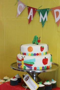 Very hungry caterpillar cake, love it