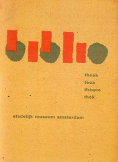 Willem Sandberg, Catalogue for the Stedelijk museum 1957