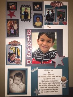 """""""All About Me"""" poster board for school project made with the help of the Cricuit Explorer"""