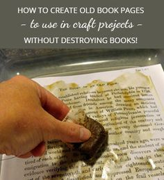 If you love book page crafts but don't want to destroy any of your books, see how you can easily create your own old book pages to use. Old Book Pages, Old Books, Office Christmas Decorations, Christmas Crafts, Paint Pens For Wood, Old Jewelry Crafts, Vintage Book Art, How To Make Headboard, Book Page Crafts