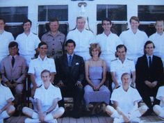 1981-08 A group photo of Diana and Charles with the crew of Britannia