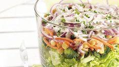 5-Star Layered Salads.Layered Salad Supreme
