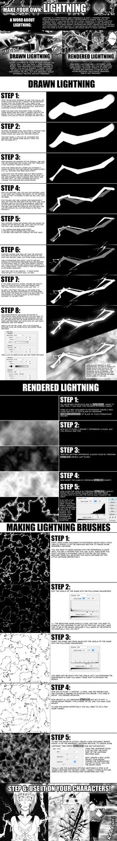 TOW-2: Lightning Tutorial by verticalfish.deviantart.com on @deviantART