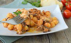 Gnocchi di patate con melanzane e mozzarella