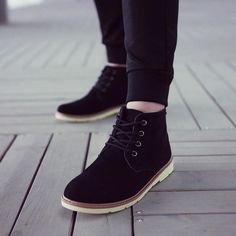 Brilliant sun Mens Autumn Ankle Boots Lace Up Fashion Casual Suede Chukka