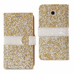 Western Outpost - Reiko Samsung Galaxy J7Jewelry Rhinestone Wallet Case Gold #ReikoWireless