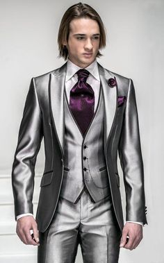 Custom made Mens Light Grey Suits Jacket Pants Formal Dress Men Suit Set men wedding suits groom tuxedos(jacket+pants+vest+tie)) Groom Tuxedo Wedding, Wedding Suits, Wedding Tuxedos, Wedding Attire, Trendy Wedding, Wedding Vows, Wedding Men, Wedding Dress, Suit Fashion