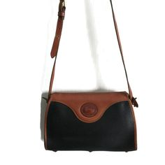Vintage Dooney and Burke Handbag Black and Tan ***ALSO SEE Vintage Jewelry at: http://MyClassicJewelry.com/shop
