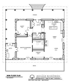 Nice floor plan for a small house. Two Bedroom House Plans for Small Land : Two Bedroom House Plans Spacious Porch Large Bathroom Spacious Deck 1 Bedroom House Plans, Guest House Plans, Tiny House Plans, Cabin Plans, House Floor Plans, Small House Plans Under 1000 Sq Ft, The Plan, How To Plan, Container Architecture