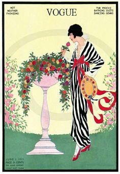 Illustration Art Print featuring the photograph Vogue Cover Featuring A Woman Smelling A Rose by Helen Dryden Art Deco Illustration, Magazine Illustration, Cover Art, Vintage Posters, Vintage Art, Vintage Vogue Covers, Vogue Magazine Covers, Drawn Art, Inspiration Art