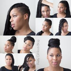 Shaved side braids. Cute:
