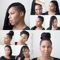 Shaved side braids. Cute: