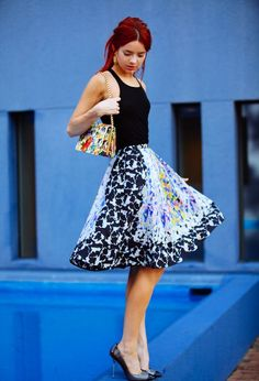 Peter Pilotto  The Sea of Shoes blogger is wearing a Peter Pilotto a-line f3abfb6ff6f92