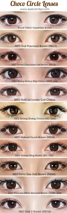 7b68f7508c0f7 Choco colored prescription plano colored contacts (doll eye circle lenses).  FREE Shipping