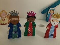 Los tres Reyes Magos para completar nuestro Belén. Se armó el Belén. Navidad 2015-16