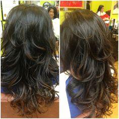 Hello, my hair. Thanks to Jessica Hair Studio for my first digital perm. Digital Perm, Phoenix Hair, Wave Perm, Honey Brown Hair, Hair Again, Long Layered Hair, Permed Hairstyles, Hair Studio, Love Hair