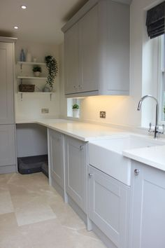Utility Room Transformation - Just a Little Build Boot Room Utility, Small Utility Room, Utility Room Designs, Utility Room Ideas, Utility Room Sinks, Utility Cupboard, Utility Shelves, Utility Cabinets, Grey Shaker Kitchen