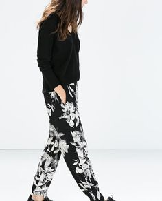 PRINT TROUSERS WITH ELASTIC WAIST