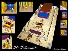 A minifigure scale model of the Tabernacle in LEGO. I feel this is as close as LEGO can get to matching the  description in the Bible.   This idea came about when my Grandfather asked me to make a model of the Tabernacle to help support a series of bible studies he is doing at our chapel.