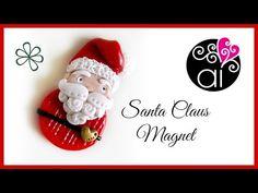 [Tuto Fimo] Père Noël en magnet ou décoration de sapin