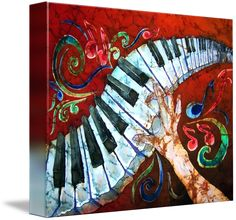 Shop for piano art from the world's greatest living artists. All piano artwork ships within 48 hours and includes a money-back guarantee. Choose your favorite piano designs and purchase them as wall art, home decor, phone cases, tote bags, and more! Music Artwork, Art Music, Music Painting, Guitar Painting, Music Decor, Musik Illustration, Piano Art, Piano Music, Fine Art Prints