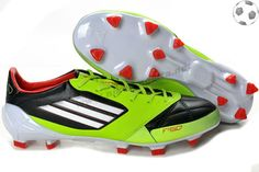 detailing 8db7b f28d3 Chaussures foot adidas f50 adizero miCoach Cuir FG Vert Noir Blanc FT6578  Soccer Shoes, Messi