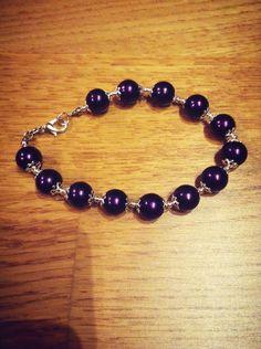 Purple beautiful Beaded Bracelets, Purple, Beautiful, Jewelry, Fashion, Jewellery Making, Moda, Pearl Bracelets, Jewelery