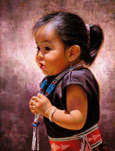 Alfredo Rodriguez American Indian Art Native American Children, Native American Artwork, Native American Beauty, American Indian Art, Native American History, Native American Indians, Native Americans, American Baby, Native Indian