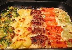Zutaten    500 g Schweinefilet(s)  2 EL Senf, mittelscharf  2 EL Öl  Salz und Pfeffer  400 g Brokkoli  250 g Möhre(n)  300 g Lauch...