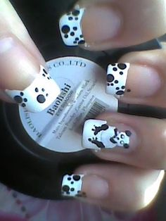 Panda by Adriiiaannaaa - Nail Art Gallery nailartgallery.nailsmag.com by Nails Magazine www.nailsmag.com #nailart