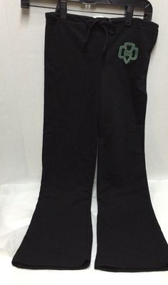 Girl Scouts Junior Pants Black Size Small New Drawstring Waist #GirlScoutsofAmerica #Pants