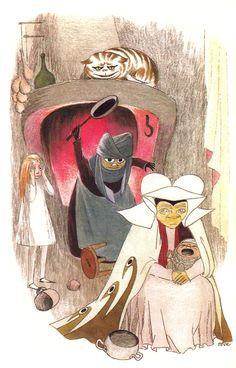 Tove Jansson's Rare Vintage Illustrations for Alice in Wonderland   Brain Pickings