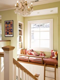 elevated reading nook
