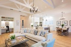 Hamptons Style with Amity Dry - Winner of The Block All Stars 2013 Country Style Homes, Style At Home, Modern Country, Interior Design Living Room, Living Room Decor, Living Rooms, Hamptons Living Room, Home Fashion, Family Room