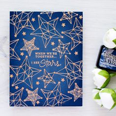 Easy galaxy background! Yana Smakula using the Simon Says Stamp August card kit!