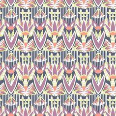 Fuchsia | inspired by Art Deco wallpaper | Laura Luchtman, Kukka Design