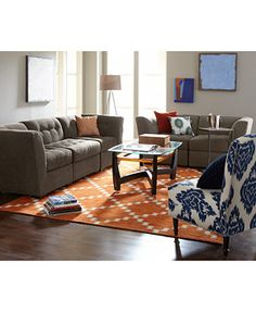 roxanne fabric modular living room furniture collection with sets